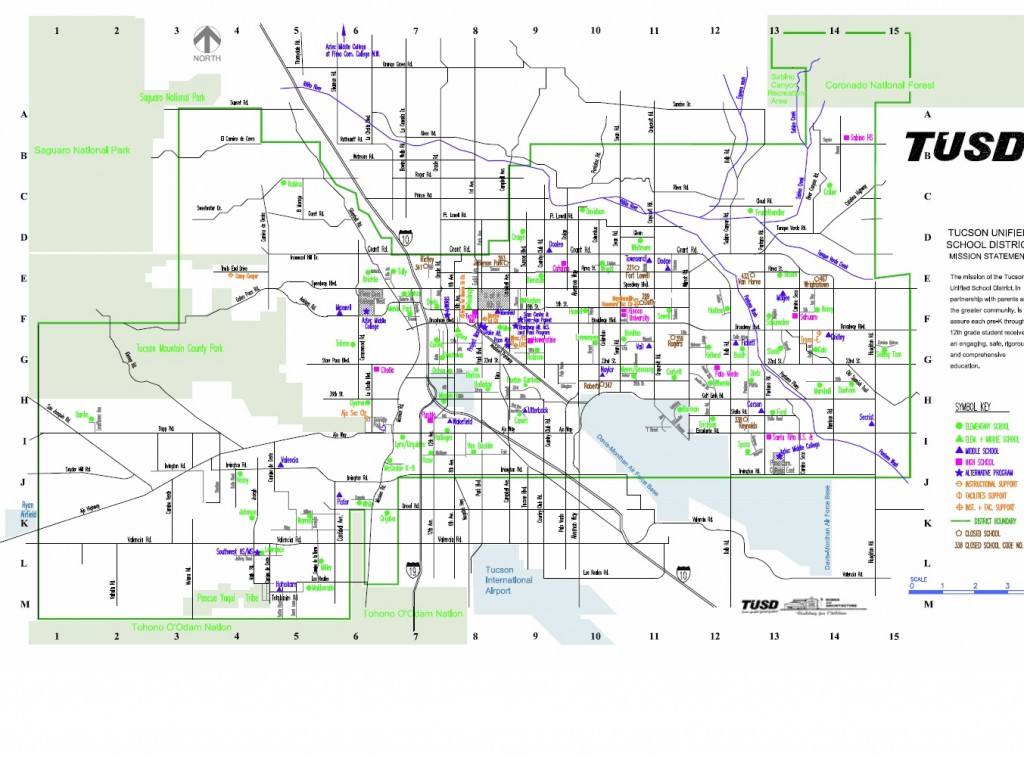 Tucson Unified School District Boundary Map