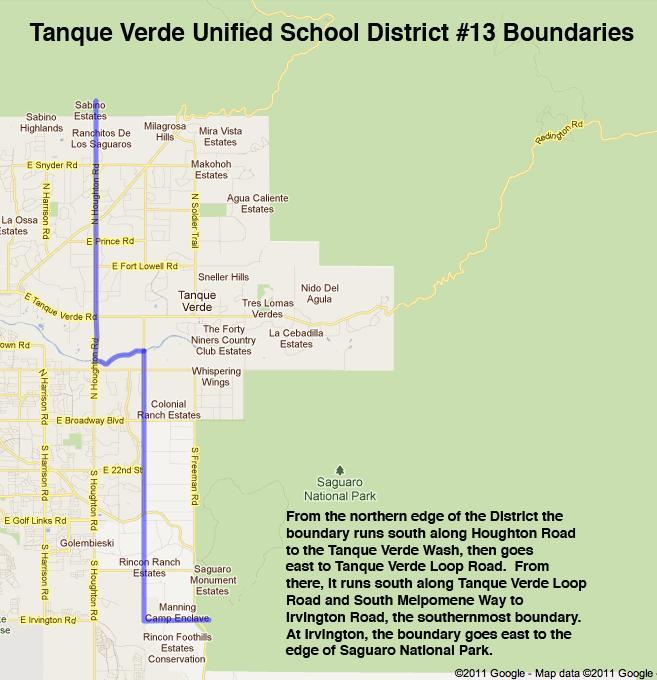 Tanque Verde School District 13 Map