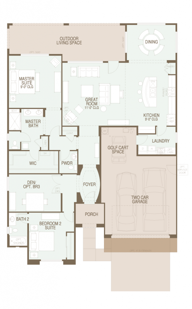 Saddlebrooke ranch strada floor plan for Tucson home builders floor plans