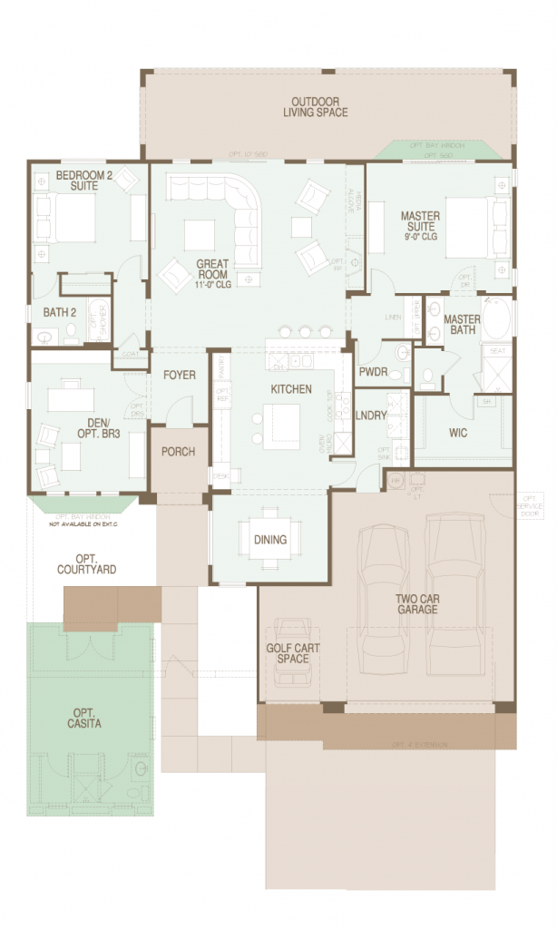 SaddleBrooke Ranch Covina Floor Plan