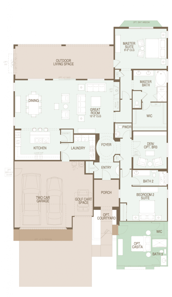 SaddleBrooke Ranch Pima Floor Plan