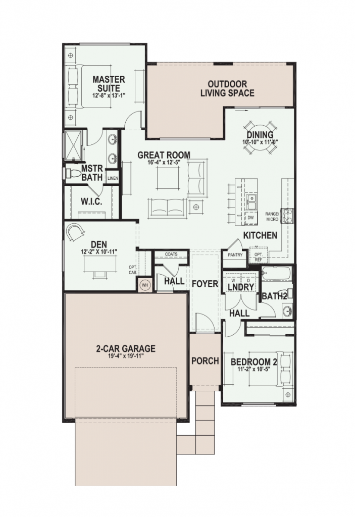 Quail Creek Cholla floor plan