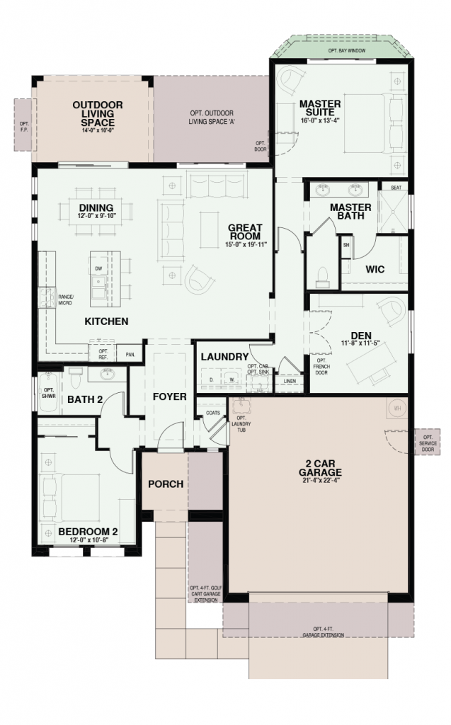Quail creek riva floor plan has 1 684 sf for Tucson house plans