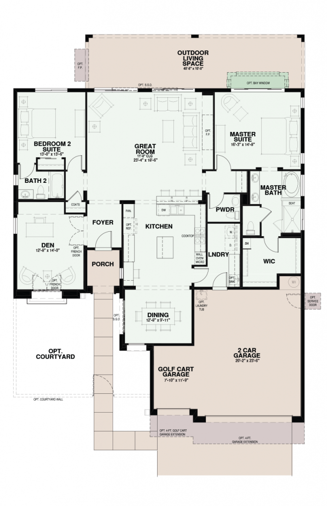 Quail Creek Medina Floor Plan