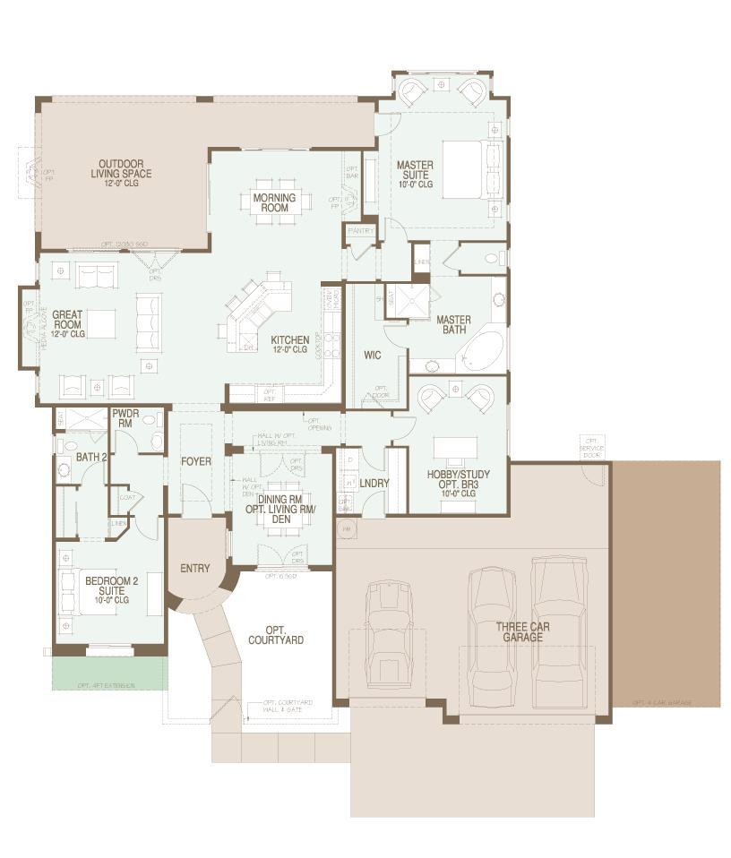 preserve Canyon floor plan