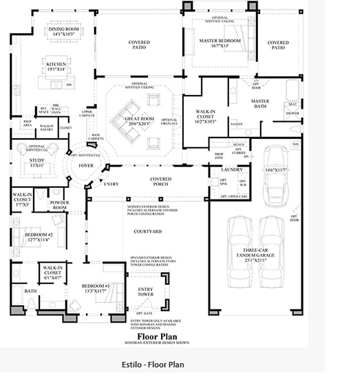 Toll Brothers Los Saguaros Estilo Floor Plan