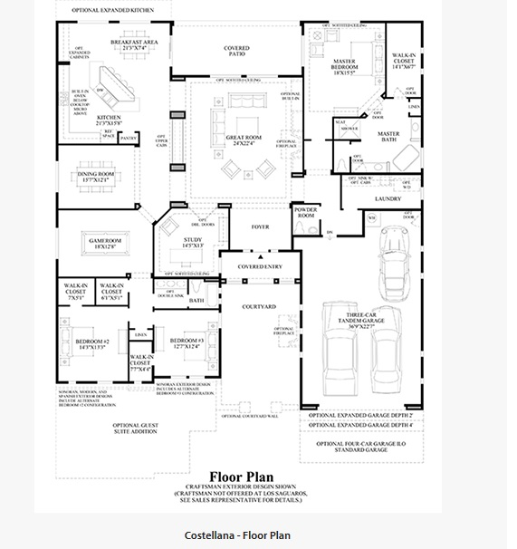 toll brothers homes floor plans