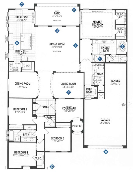 Mattamy homes cimarron floor plan dove mtn for Tucson home builders floor plans
