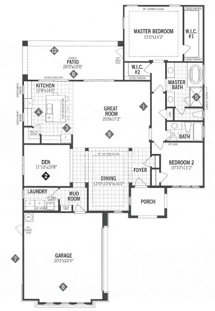 Mattamy homes outlook floor plan dove mountain for Tucson home builders floor plans