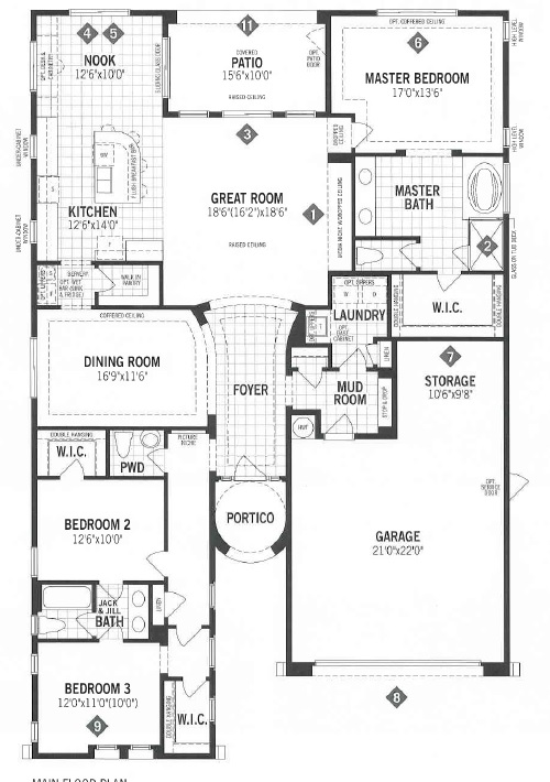 Mattamy homes panorama floor plan dove mtn for Tucson home builders floor plans