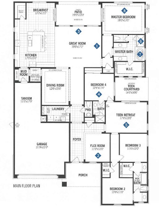 Mattamy homes quinlan floor plan dove mountain for Tucson home builders floor plans