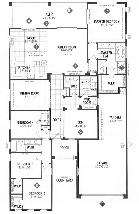Mattamy homes ridgeview floor plan dove mtn for Tucson home builders floor plans
