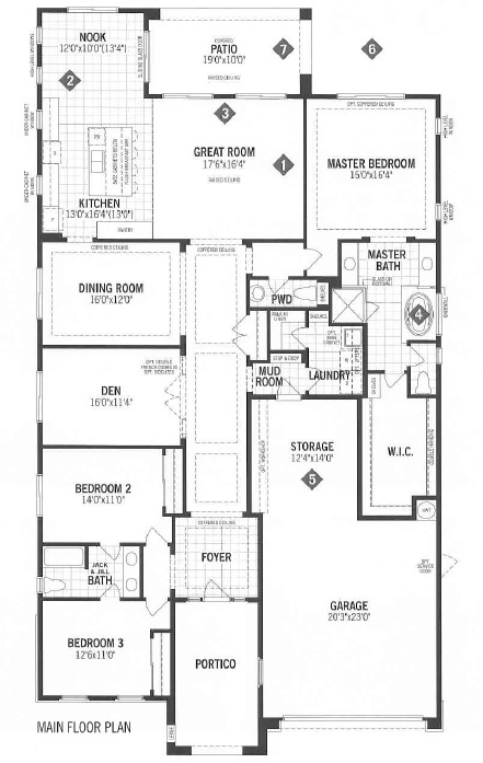 Mattamy Homes Vista Floor Plan