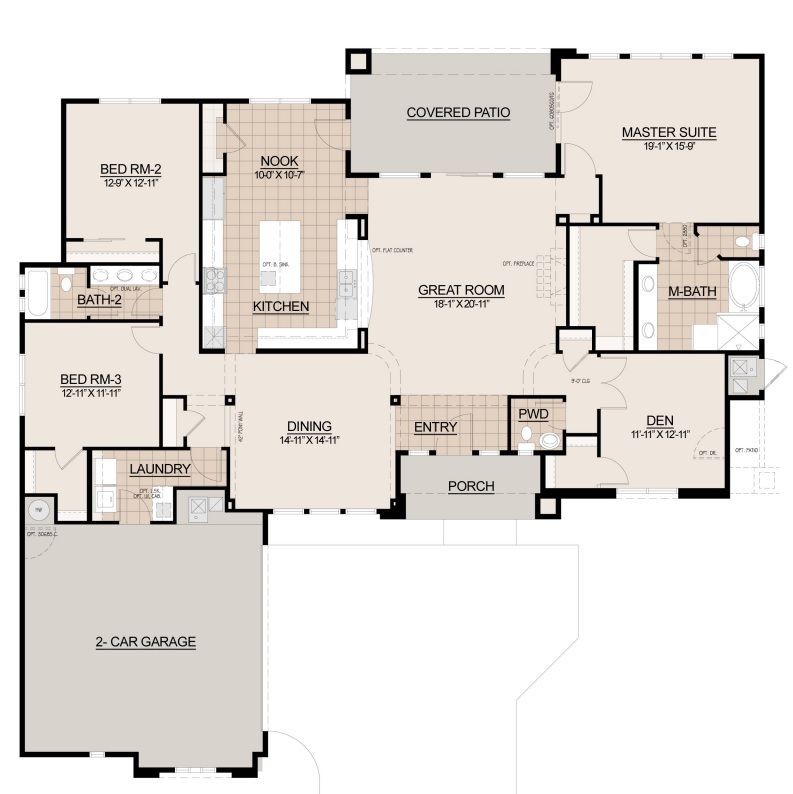 Boulder Pass Miramonte Floor Plan 2602
