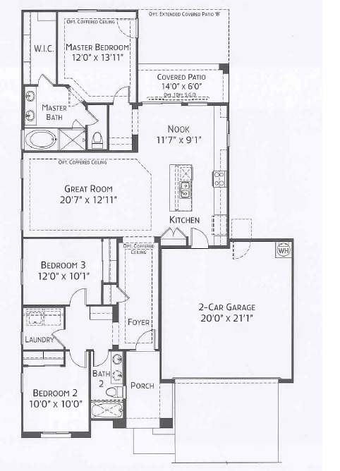 Center pointe vistoso coconino floorplan oro valley az for Tucson home builders floor plans