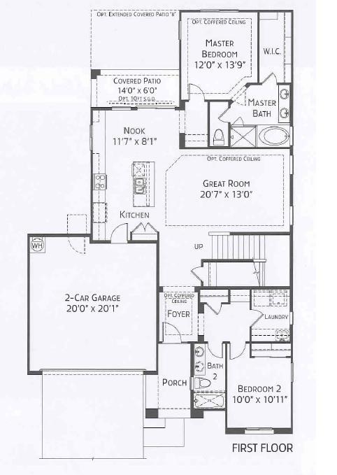 Center Pointe Vistoso Greenlee Floorplan 1st flr