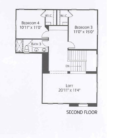 Center Pointe Vistoso Greenlee Floorplan 2n flr