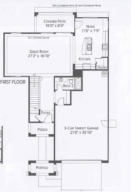 Center Pointe Vistoso Mohave Floorplan 1st Flr