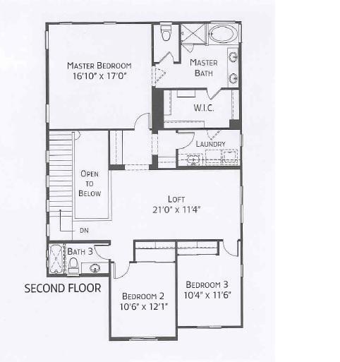 Center Pointe Vistoso Mohave Floorplan 2nd Flr