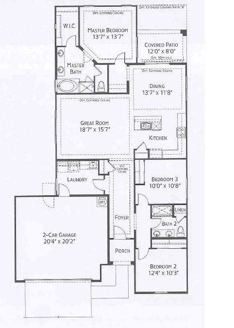 Center Pointe Vistoso Yuma Floorplan
