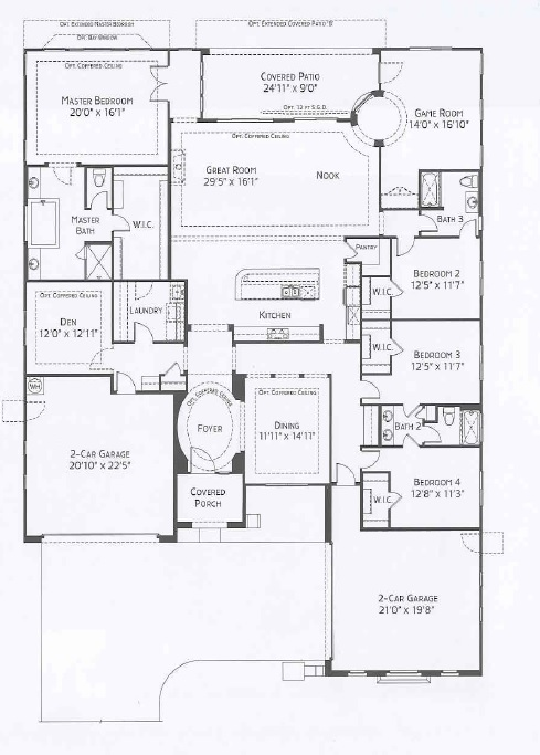 Center Pointe Vistoso Arrowhead Floorplan