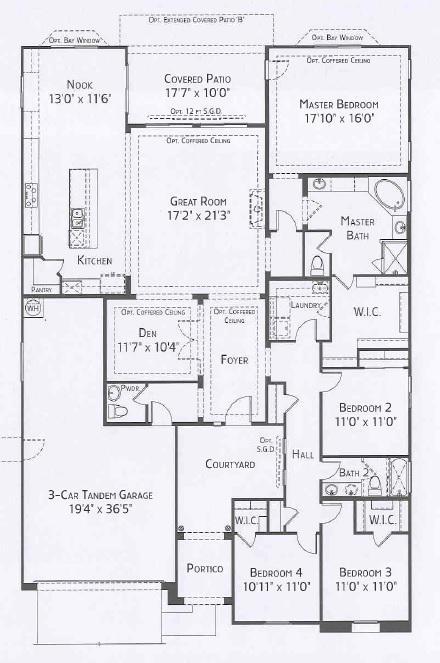 Center Pointe Vistoso Parker floorplan