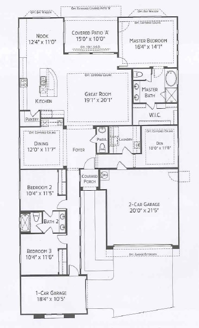 Center Pointe Vistoso Bisbee Floorplan