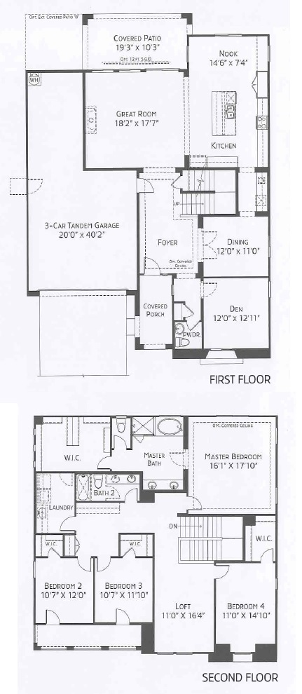 center pointe vistoso page floorplan