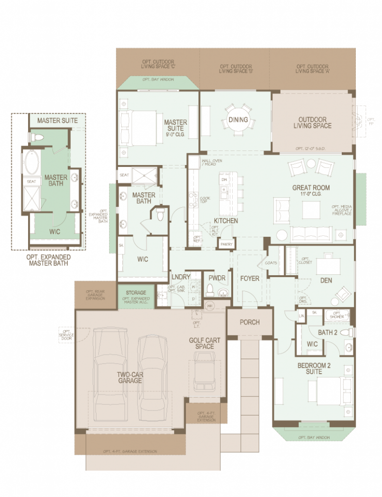 Saddlebrooke ranch cortez floor plan casita for Casita home plans